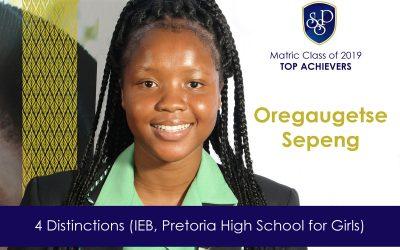 SSP's top NSC Matric Scholar is Oregaugetse Sepeng