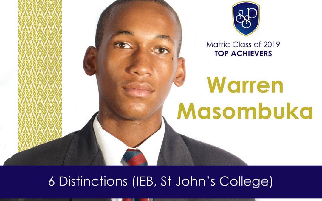 SSP IEB Matric Scholar Warren Masombuka earns 6 distinctions